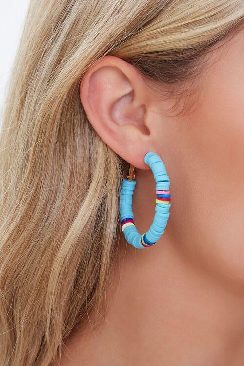 Beaded Hoop Earrings, image 1