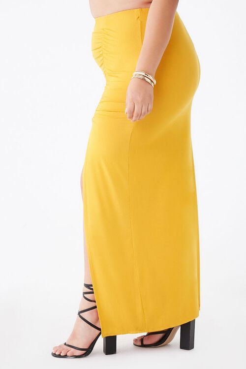 Plus Size Ruched Maxi Skirt, image 3