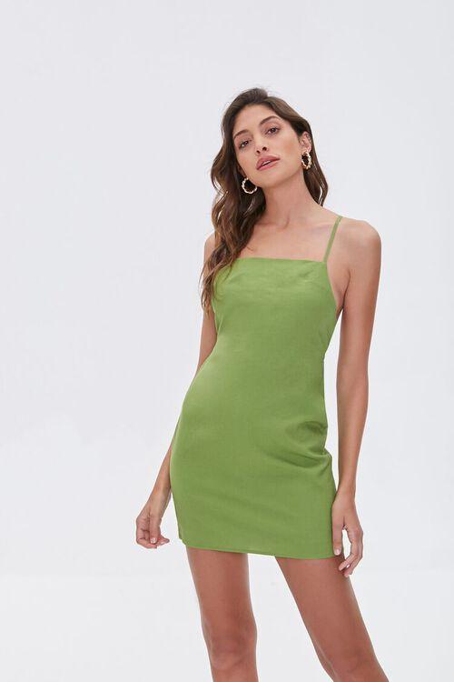 Crisscross Linen-Blend Mini Dress, image 1