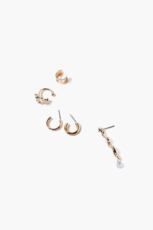 Snake Pendant Cuff & Hoop Earring Set, image 1
