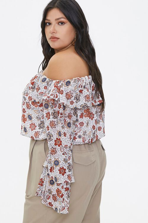 Plus Size Floral Bell-Sleeve Top, image 2