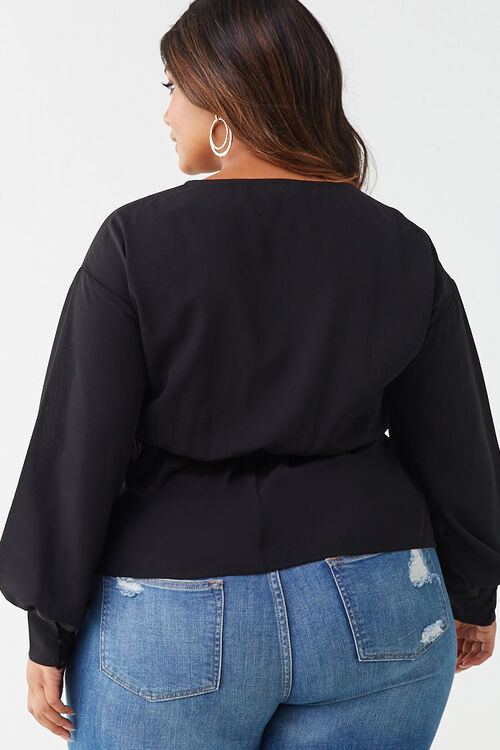 Plus Size Button-Loop Top, image 3