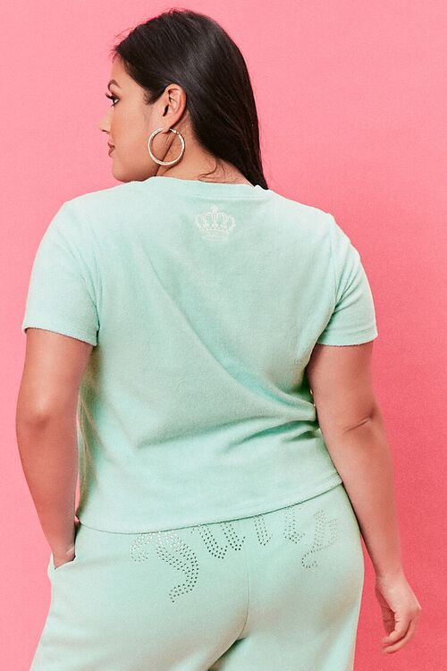 Plus Size Terry Cloth Juicy Couture Tee, image 3