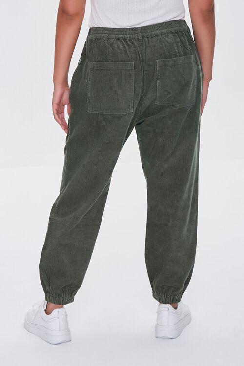OLIVE Plus Size Corduroy Pocket Joggers, image 4