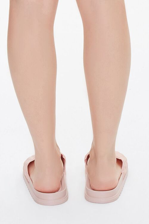 BLUSH Faux Leather Quilted Slides, image 2