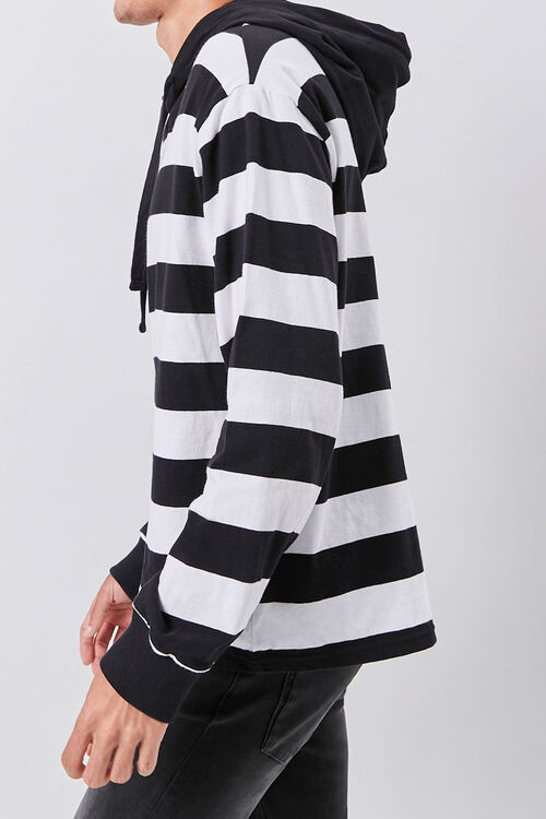 Bold Striped Hooded Pullover, image 2