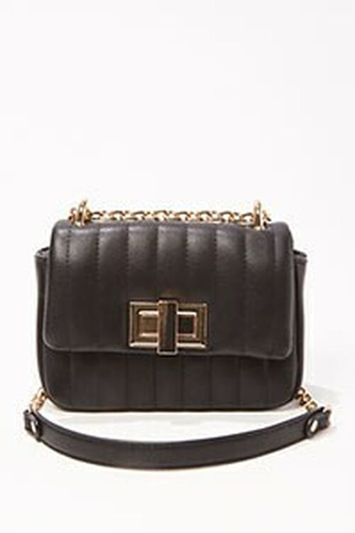 Quilted Faux Leather Crossbody, image 1