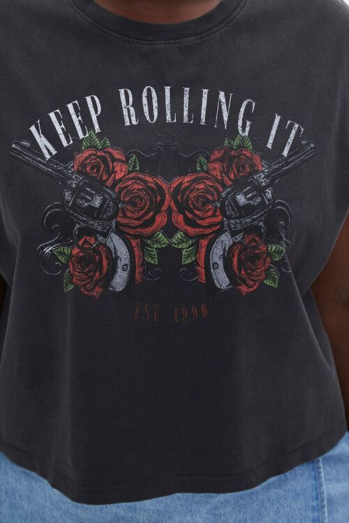 Plus Size Keep Rolling It Muscle Tee, image 5