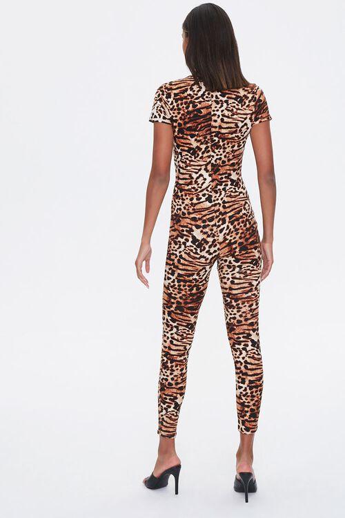 Leopard Print V-Neck Jumpsuit, image 3