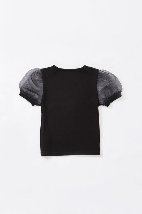 Girls Puff Sleeve Tee (Kids), image 2