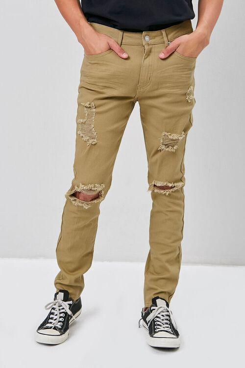 KHAKI Distressed Skinny Jeans, image 2