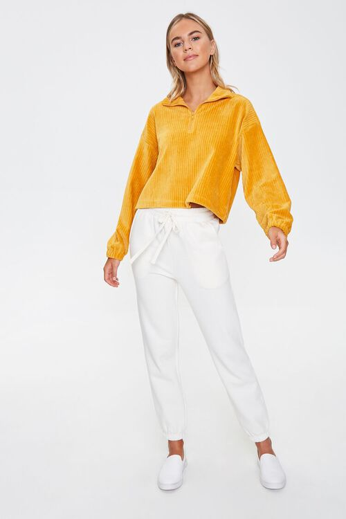 Ribbed Half-Zip Pullover, image 4