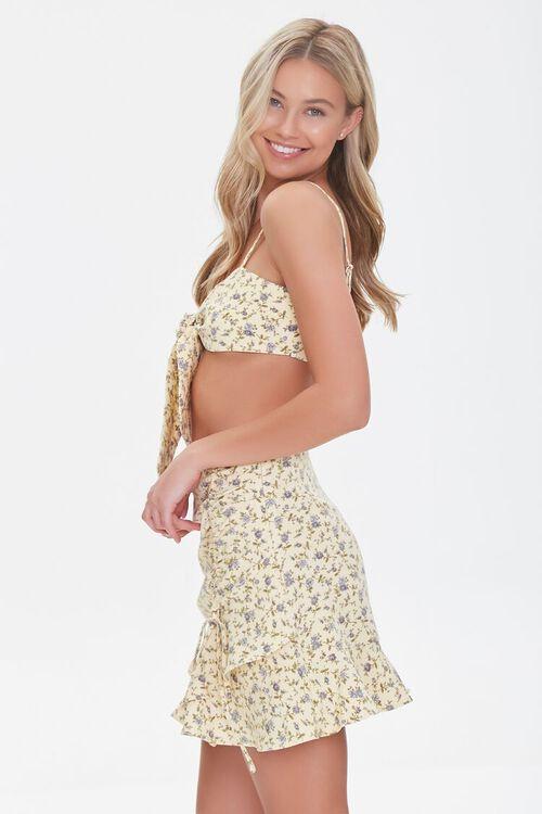 YELLOW/MULTI Floral Print Crop Top & Skirt Set, image 2