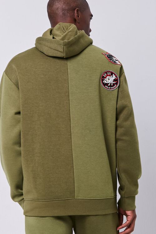 Patch Graphic Fleece Hoodie, image 3