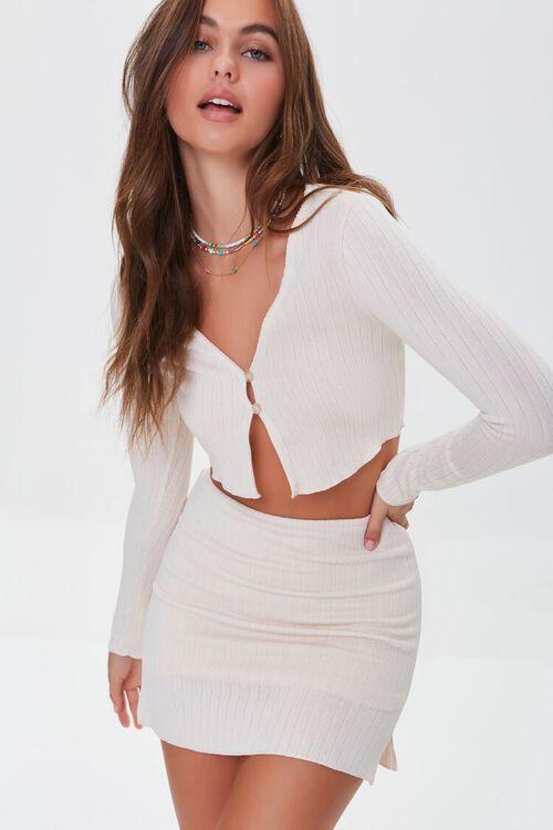 Ribbed Crop Top & Mini Skirt Set, image 7