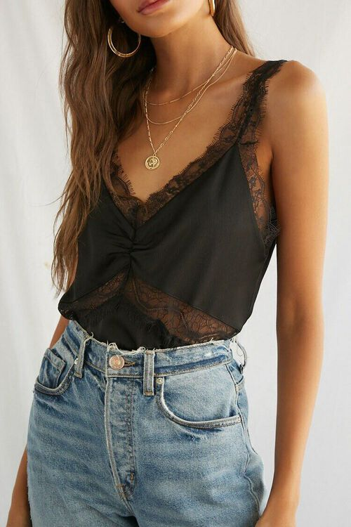 Floral Lace-Trim Top, image 1