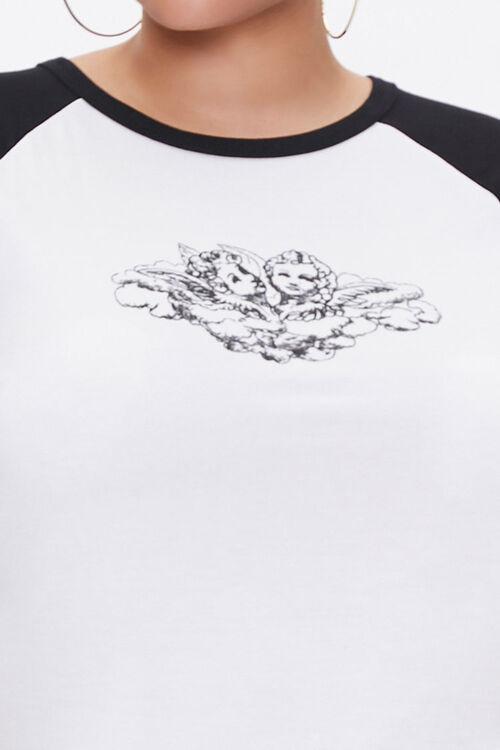 Plus Size Raglan-Sleeve Angel Tee, image 5