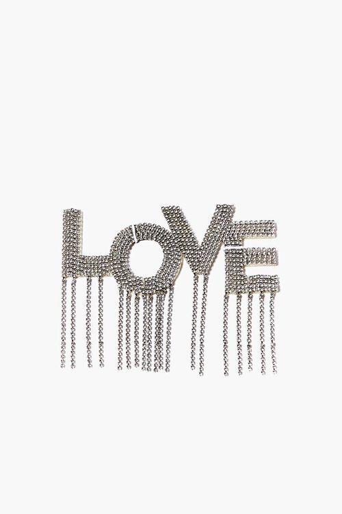SILVER DIY Iron-On Love Embellishment, image 1