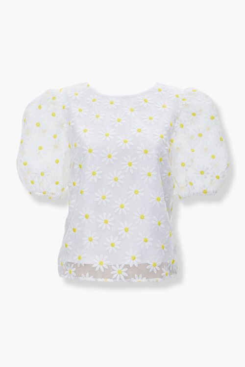 Daisy Puff-Sleeve Top, image 1