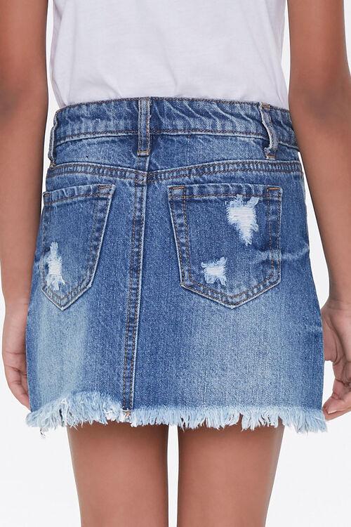 Girls Denim Frayed Skirt (Kids), image 4