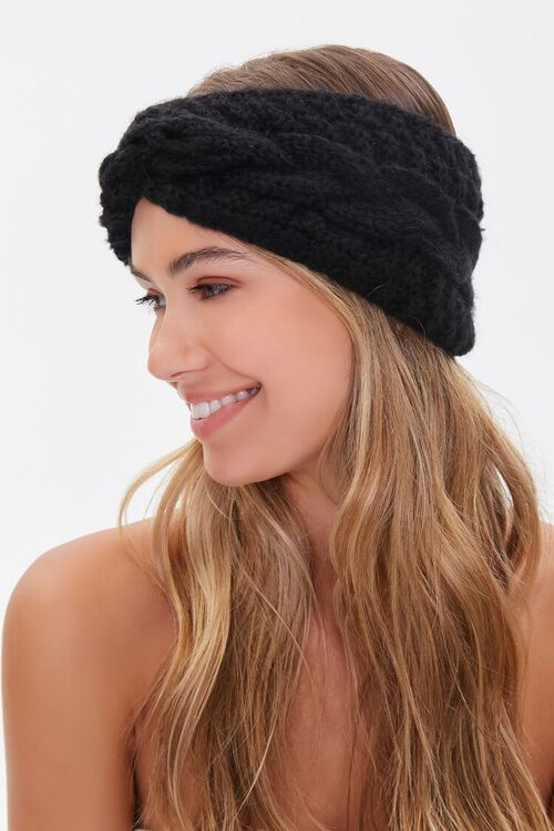 Twisted Cable Knit Headwrap, image 2