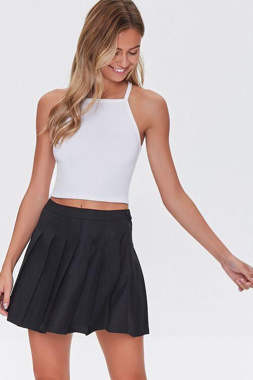 Pleated A-Line Mini Skirt, image 1