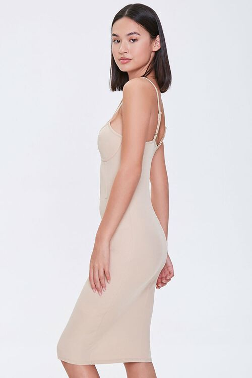 TAUPE Bustier Bodycon Mini Dress, image 2