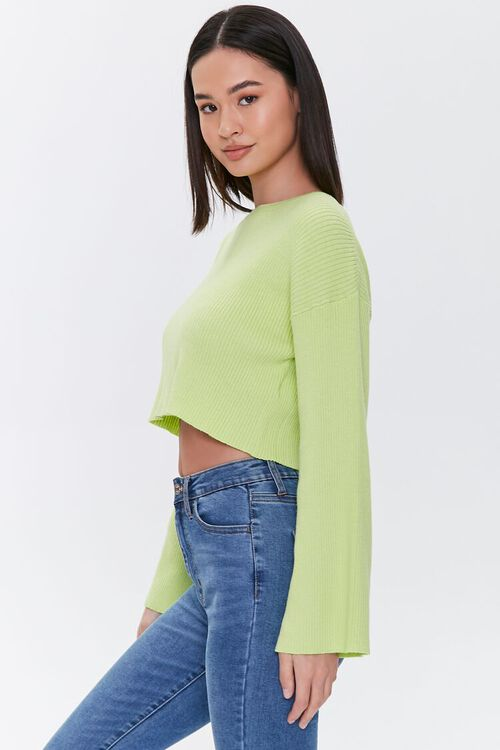 Cropped Bell-Sleeve Sweater, image 2