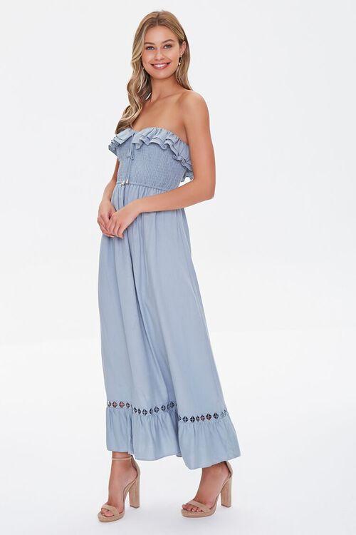 Strapless Ruffle-Trim Maxi Dress, image 4