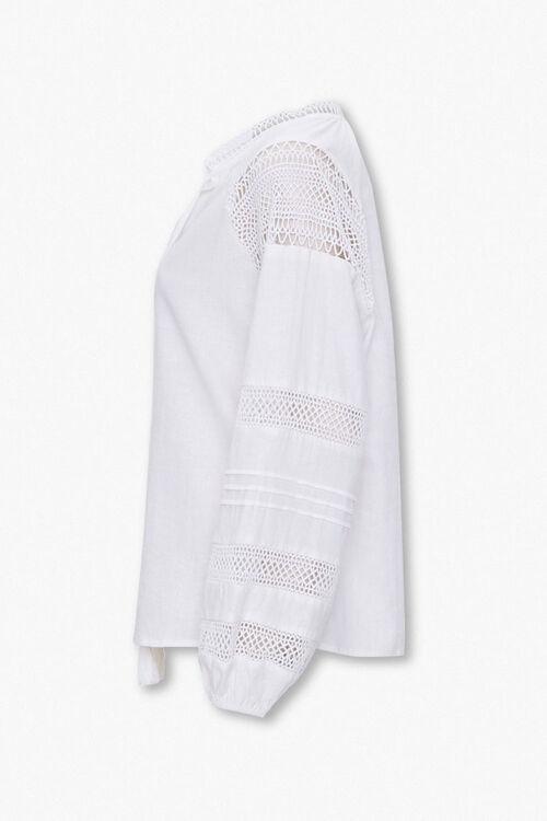 Linen-Blend Peasant Top, image 2