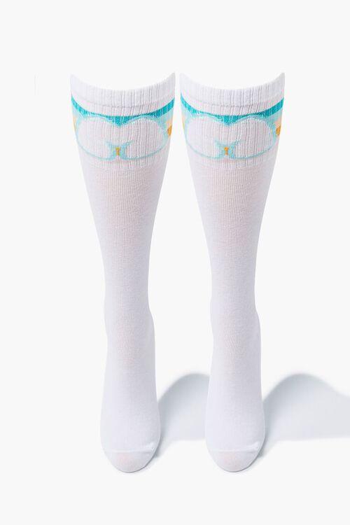 WHITE/MULTI Moxi Skates Crew Socks, image 1