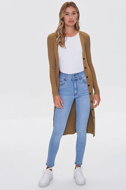 Ribbed Longline Cardigan Sweater, image 4