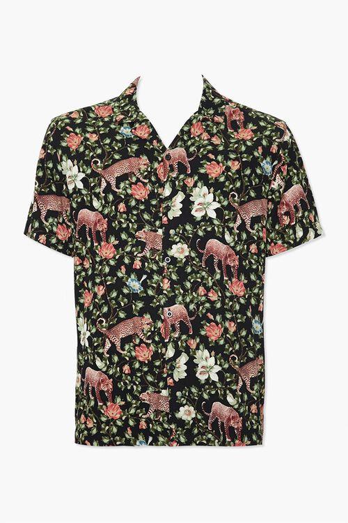 Floral Leopard Print Classic Shirt, image 1