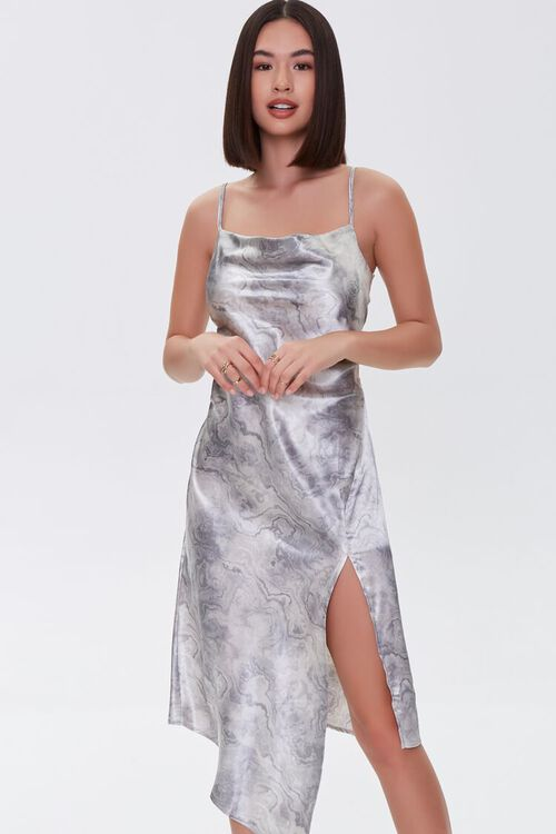 Oil Wash Satin Dress, image 5