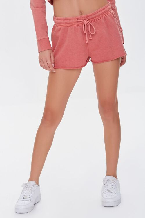 FADED ROSE Active French Terry Shorts, image 2