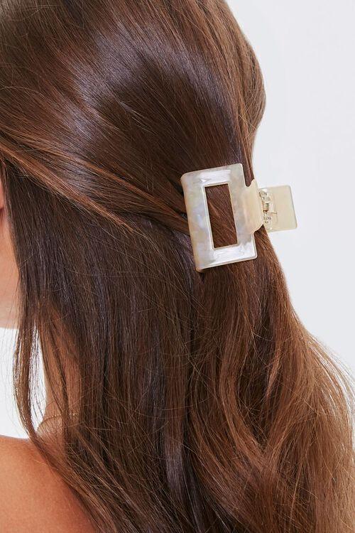 TAUPE Cutout Hair Claw Clip, image 1