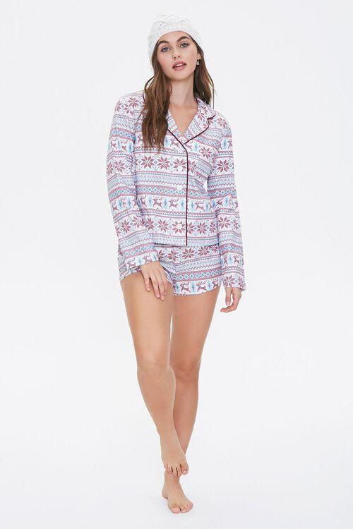 Fair Isle Print Pajama Set, image 4
