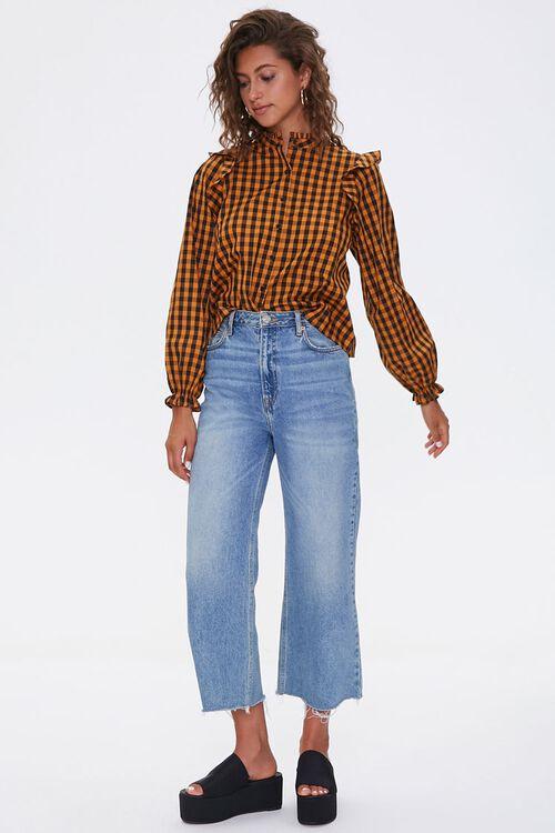 Gingham Ruffle-Trim Shirt, image 4