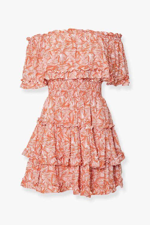 Off-the-Shoulder Geo Print Dress, image 1