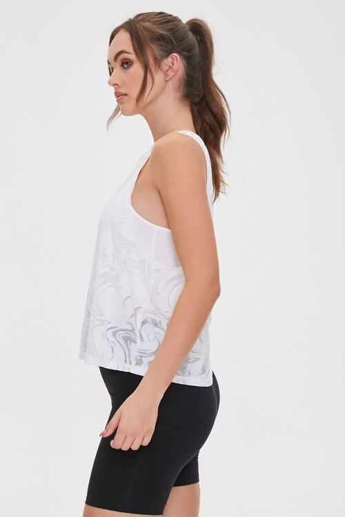 Active Marbled Cutout Tank Top, image 3