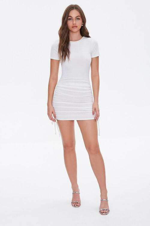 Ruched Self-Tie Bodycon Dress, image 4