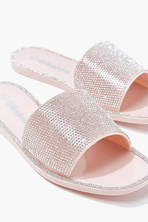 NUDE Rhinestone Slide Sandals, image 3