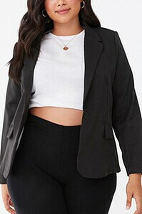 Plus Size Notched Collar Blazer, image 1