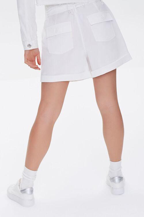 Cuffed Sash-Belt Shorts, image 4
