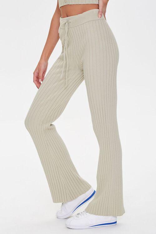 Ribbed Drawstring Sweatpants, image 3