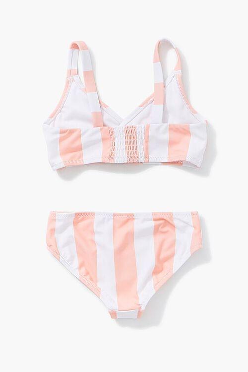 Girls Striped Print Bikini (Kids), image 2