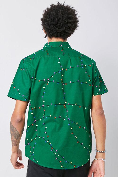 Christmas Lights Print Shirt, image 3
