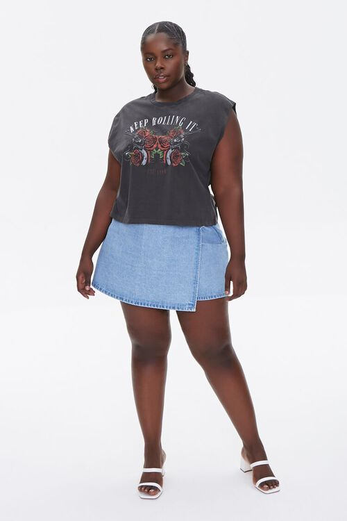 Plus Size Keep Rolling It Muscle Tee, image 4