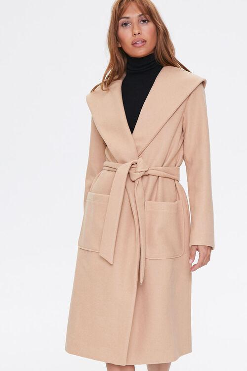 Tie-Waist Wrap Coat, image 4