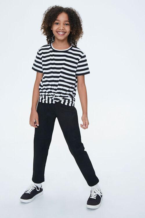 Girls Striped Knotted Tee (Kids), image 4